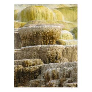 Mineral Falls at Mammoth Springs Wyoming Postcard