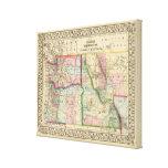 Mineral, lavado, Idaho, mapa de Mont de Mitchell Impresión En Lienzo