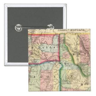 Mineral, lavado, Idaho, mapa de Mont de Mitchell Pin Cuadrado