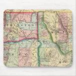 Mineral, lavado, Idaho, mapa de Mont de Mitchell Tapetes De Ratón