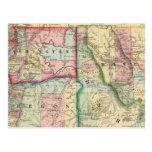 Mineral, lavado, Idaho, mapa de Mont de Mitchell Tarjetas Postales