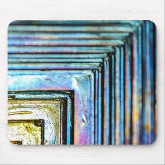Mineral macro abstracto Mousepad del bismuto