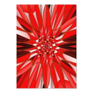"""Mineral rojo invitación 5"""" x 7"""""""