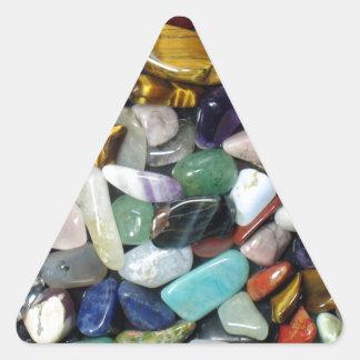 Mineral Stones Triangle Sticker