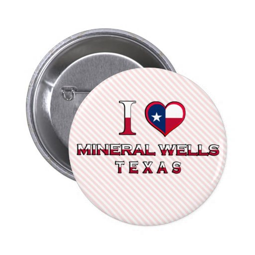 Mineral Wells, Texas Pinback Buttons