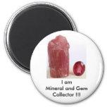 Mineral y colector de la gema iman para frigorífico