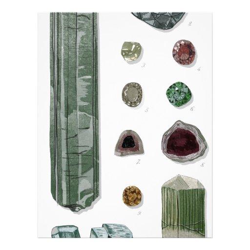 Minerales y gemas Vol.1 Membrete Personalizado