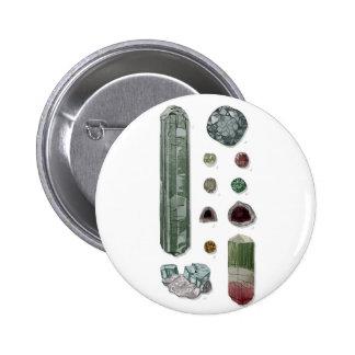 Minerales y gemas Vol.1 Pin Redondo De 2 Pulgadas