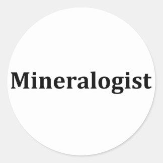 Mineralogist Classic Round Sticker