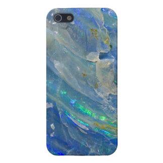 Mineraloid del ópalo azul 2 iPhone 5 carcasas