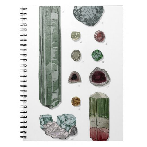 Minerals & Gems Vol.1 Spiral Notebook