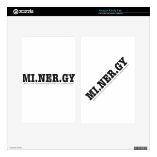 Minergy minimal energy decal for kindle fire