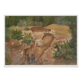 Minería aurífera (0139B) Póster