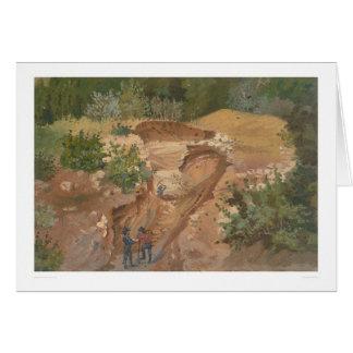 Minería aurífera (0139B) Tarjeta De Felicitación