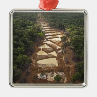 Minería aurífera aluvial. Selva tropical, Guyana Ornamento Para Arbol De Navidad