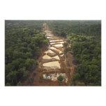 Minería aurífera aluvial. Selva tropical, Guyana Fotografía