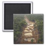 Minería aurífera aluvial. Selva tropical, Guyana Imán Cuadrado