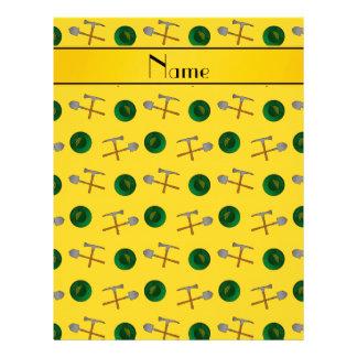 Minería aurífera amarilla conocida personalizada membrete