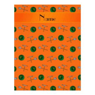 Minería aurífera anaranjada conocida personalizada membrete a diseño