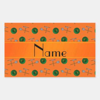 Minería aurífera anaranjada conocida personalizada rectangular altavoz