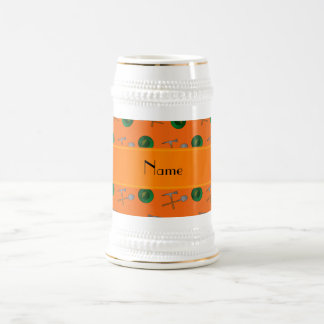 Minería aurífera anaranjada conocida personalizada jarra de cerveza