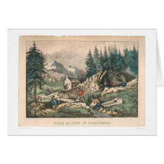 Minería aurífera en California (0636A) Tarjeta De Felicitación