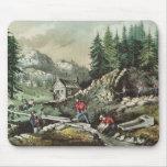 Minería aurífera en California, 1871 Mousepad