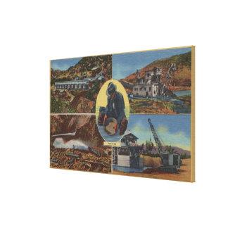 Minería aurífera en California - Quarz, rastra Impresión En Lienzo Estirada
