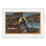 Minería aurífera en California - Quarz, rastra Tarjeta