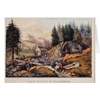 Minería aurífera en California Tarjeta