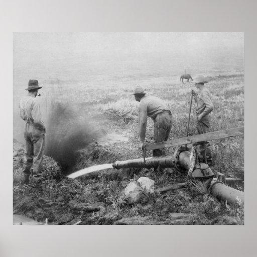 Minería aurífera hidráulica en la fotografía de Ro Póster