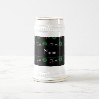 Minería aurífera negra conocida personalizada jarra de cerveza