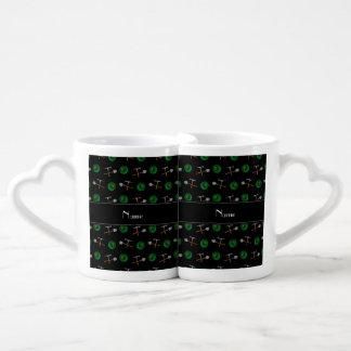 Minería aurífera negra conocida personalizada taza para parejas