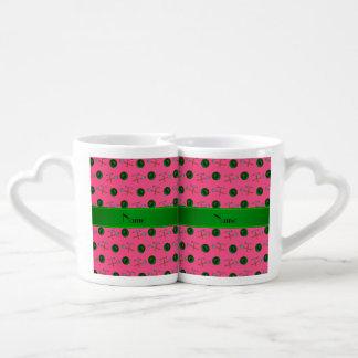Minería aurífera rosada conocida personalizada tazas para enamorados