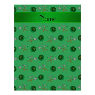Minería aurífera verde conocida personalizada membretes personalizados
