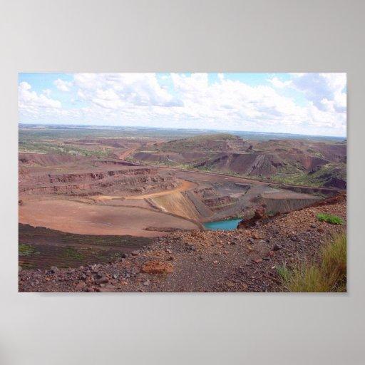 Minerías en la mina de Paraburdoo Posters