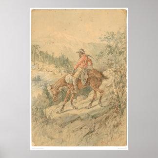 Minero a caballo (0692A) Póster