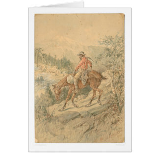 Minero a caballo (0692A) Tarjeta