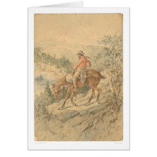 Minero a caballo (0692A) Tarjeta De Felicitación