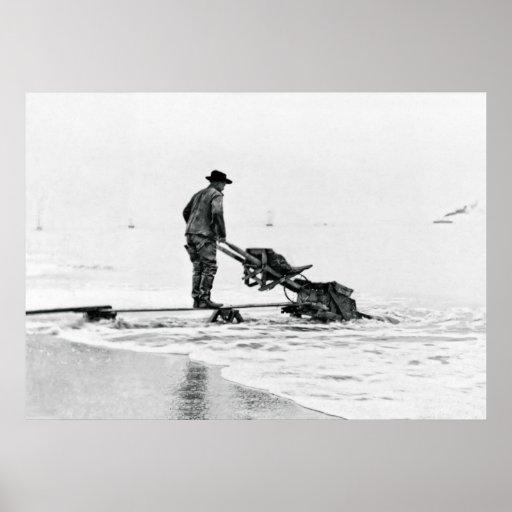 MINERO C. 1915 de la PLAYA de NOME ALASKA Impresiones