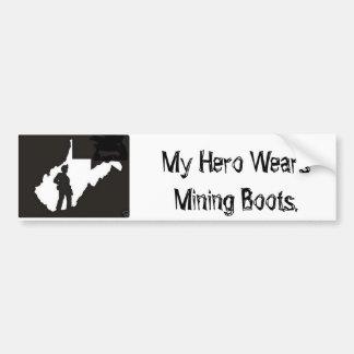 minero pegatina de parachoque