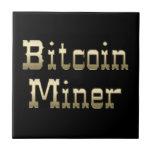 Minero de Bitcoin (en negro) Azulejos Cerámicos