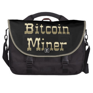 Minero de Bitcoin (en negro) Bolsas Para Portatil