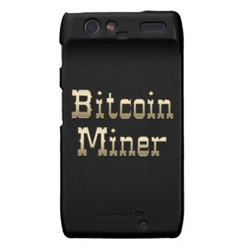 Minero de Bitcoin (en negro) Droid RAZR Carcasas