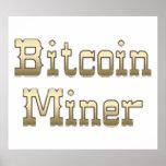 Minero de Bitcoin Poster