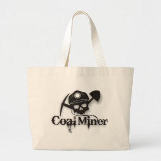 minero de carbón bolsa tela grande