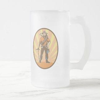 Minero de oro taza de cristal