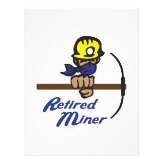 Minero jubilado membrete a diseño