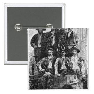Mineros de carbón de Le Creusot durante el segundo Pin Cuadrado