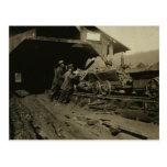 Mineros de carbón postal